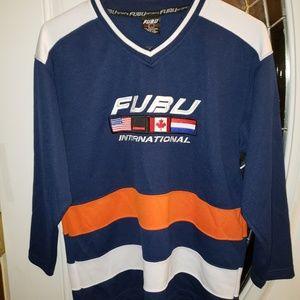 FUBU Vintage 90's Hockey Jersey Youth Med. 12-14